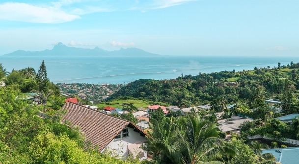 tahiti ile polynesie vue colline puna auia