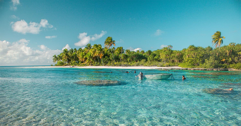 pêcher sur une île déserte