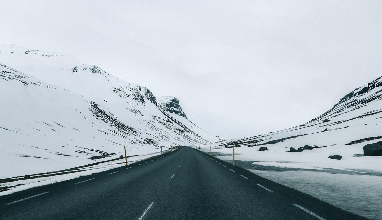 road trip en islande route 1 neige