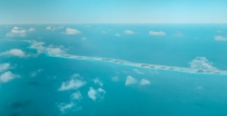 rangirora atoll vue avion